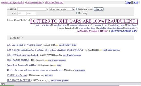 transport scammers on craigslist transportfool