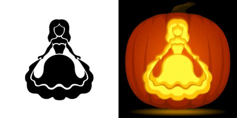 pumpkin carving princess templates free princess pumpkin stencil