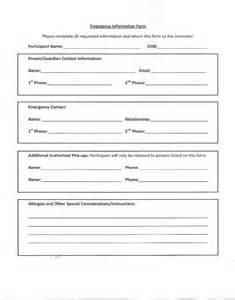 Emergency contact form template for employees pictures