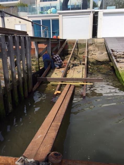 boat mooring in poole slipway refurbishment in parkstone poole poole moorings