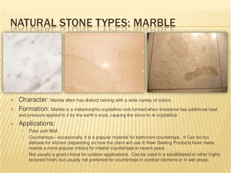 Kitchen Countertops Materials natural stone application for interiors