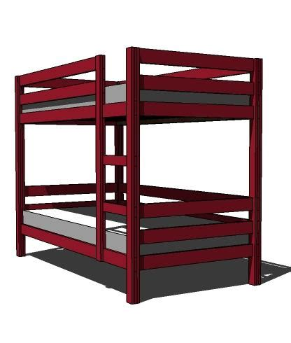 Building A Bunk Bed Free Bunk Bed Building Plans Bed Plans Diy Blueprints