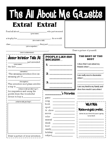 13 Best Images of Get To Know Me Worksheet - Get to Know
