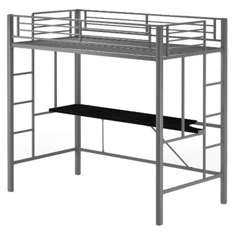 metal loft bed with desk metal loft bed with desk silver dorel