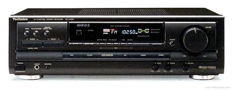technics sa  manual av control stereo receiver