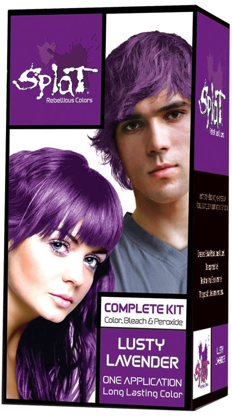 best box dye with bleach splat rebellious colors purple hair dye kit lusty lavender