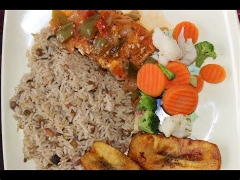 Fish Brown Rice And Vegetable Detox Diet by How To Cook Real Jamaican Seared Salmon And Rice Peas