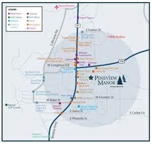 map of payson arizona pineview manor apartments