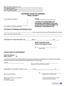 Appointment Letter Representative Letters Of Appointment Of Personal Representative And