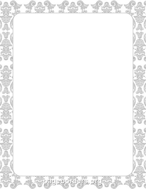 Silver Damask Border: Clip Art, Page Border, and Vector