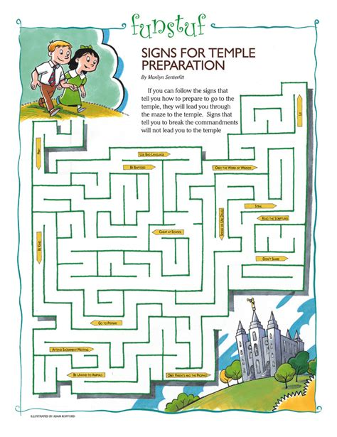 printable lds mazes signs for temple preparation friend
