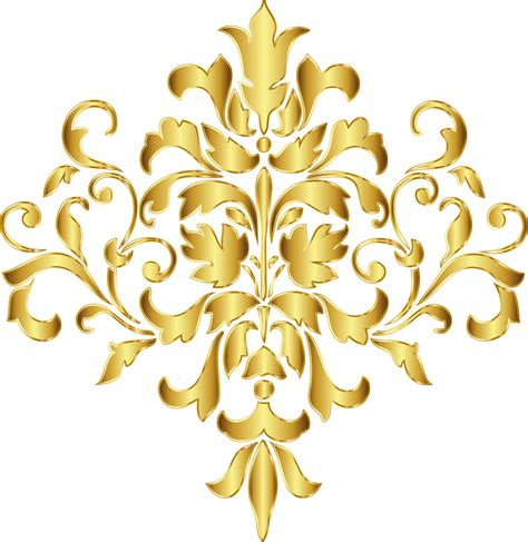 golden pattern png gold damask corner clip art pictures to pin on pinterest