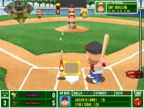 backyard baseball 2000 microsoft baseball 2001 jeu pc images vid 233 os astuces