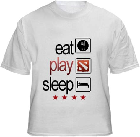 Kaos Tshirt Eat Sleep Dota 2 dota wearcraft eat play sleep