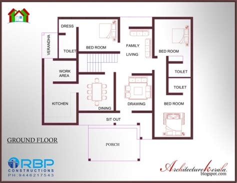 two bedroom house two bedroom house plan with elevation house floor plans