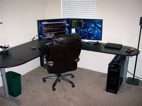 Galant Ikea Corner Desk Ikea Galant Corner Desk Exle Battlestations Pinterest Desks And House