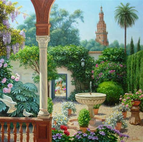 pinturas de patios andaluces pintura donde se mezclan temas cordobeses y sevillanos