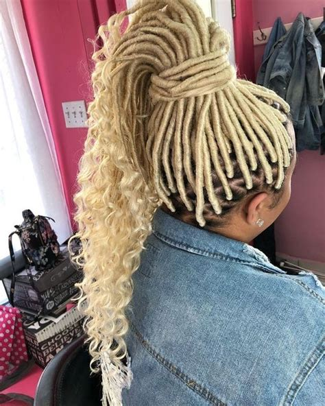 platinum blonde and blue crochet marley best 26 faux locs with marley hair for this year new