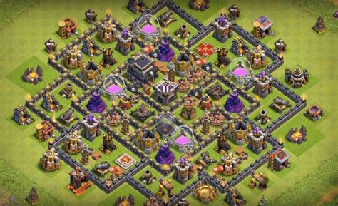 th9 base with war bomb tower 2016 coc war base th9 with bomb tower