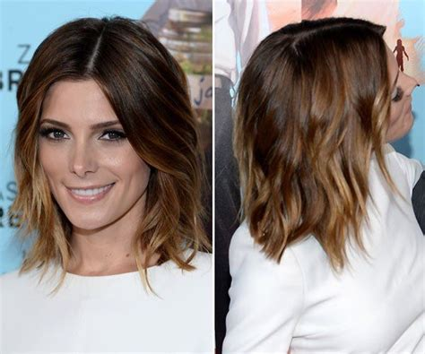 ashley greene with beautiful ombre ashley greene s gorgeous ombre lob at wish i was here