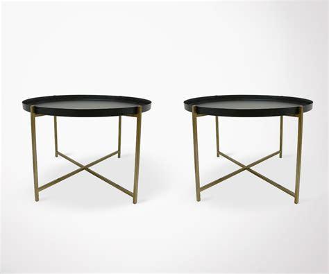 Table D Appoint Metal Noir by Lot 2 Tables D Appoint M 233 Tal Noir Finitions Dor 233 Es Hk Living