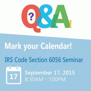 irs section 6056 landmark hosts irs code section 6056 seminar landmark