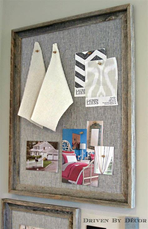 DIY Reclaimed Wood Framed Bulletin Boards   Driven by Decor