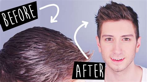 hairstyles to hide greasy hair youtube 3 tricks to mattify greasy hair men s hairstyles youtube