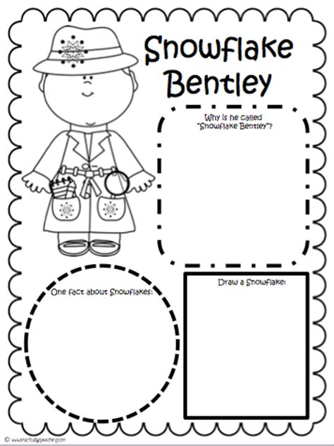 snowflake bentley worksheets snowflake bentley comprehension packet