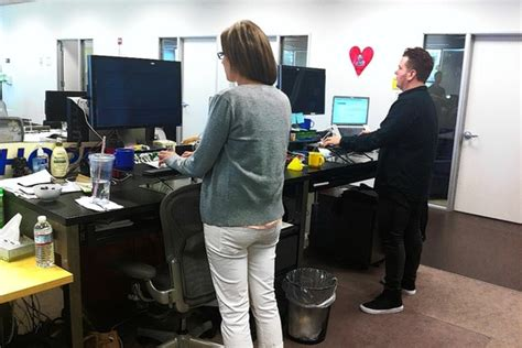 Stand Up Desk Chairs by Standing Desks Are On The Rise Wsj