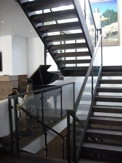 home design story stairs 3 story steel glass wood contemporary staircase san