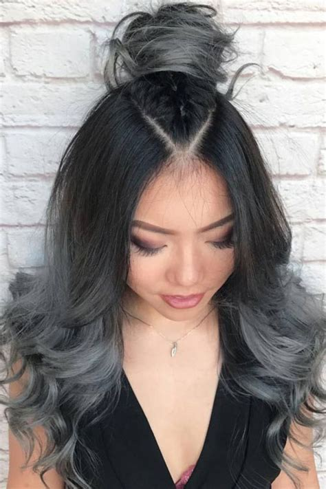 see models with sheik gray colo hair styles best ombre hairstyles blonde red black and brown hair