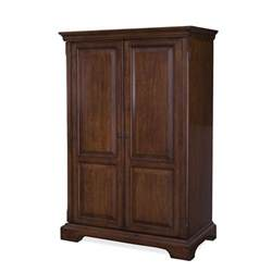 Used Computer Armoire Cantata Computer Armoire In Burnished Cherry 4985