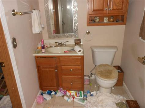 Cluttered Bathroom by House Photos 187 Ceiling