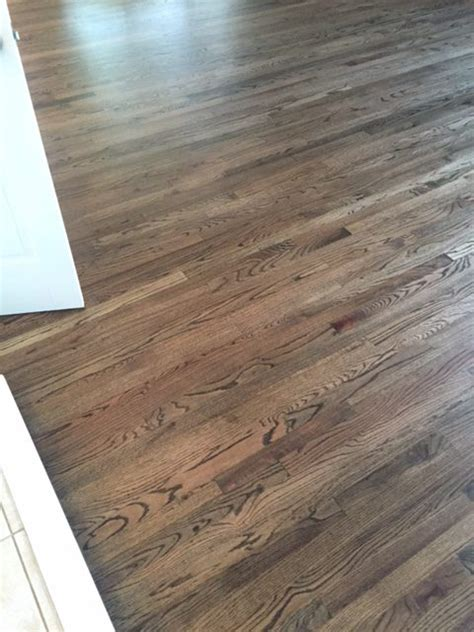 install red oak 2r 1 with dark walnut stain in fort collins jade floors