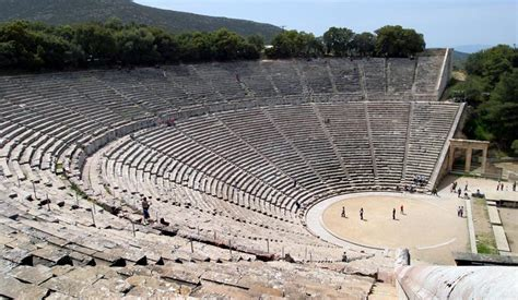 Greek Theatre Ancient Greece   the mystery of modern acoustic in ancient greek theatre solved