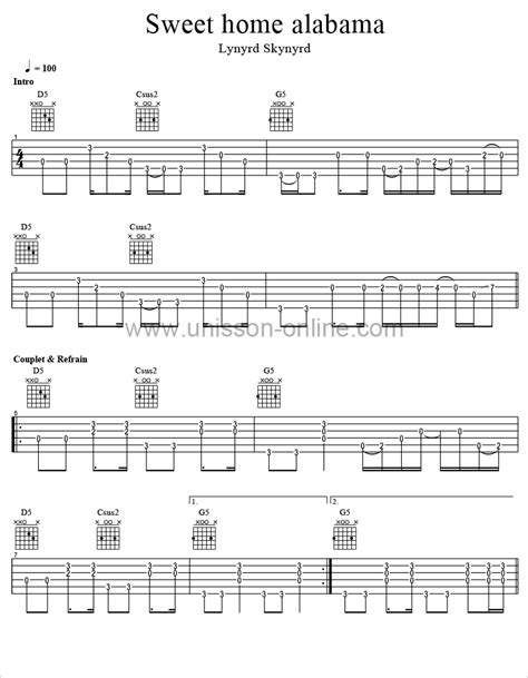 sweet home alabama guitar tab lynyrd skynyrd auto design