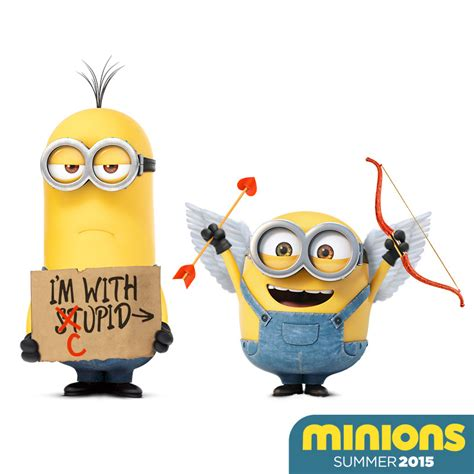 minion valentines day card minions happy valentine s day from cupid and the minions