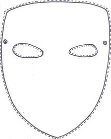 Mask Template Pdf by Blank Mask Coloring Pages