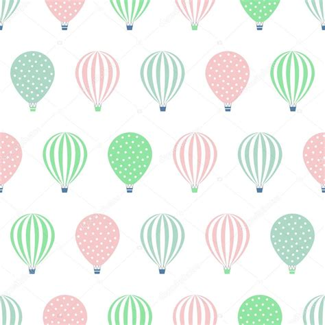 seamless pattern baby hot air balloon seamless pattern baby shower vector