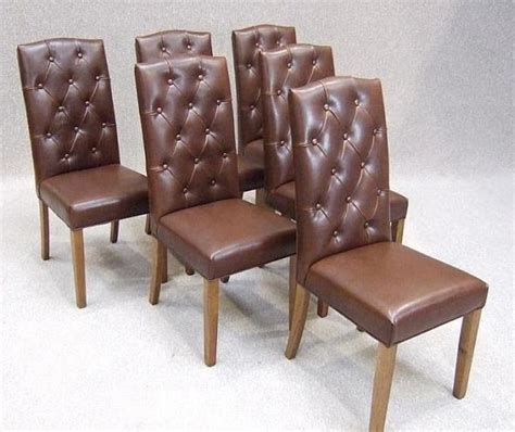 chesterfield dining chair leather dining chair