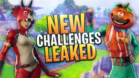 fortnite week 9 challenges leaked new battle pass season challenges week 9
