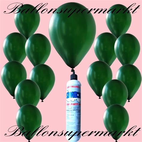 color of helium balloons in green metallic colors disposable mini
