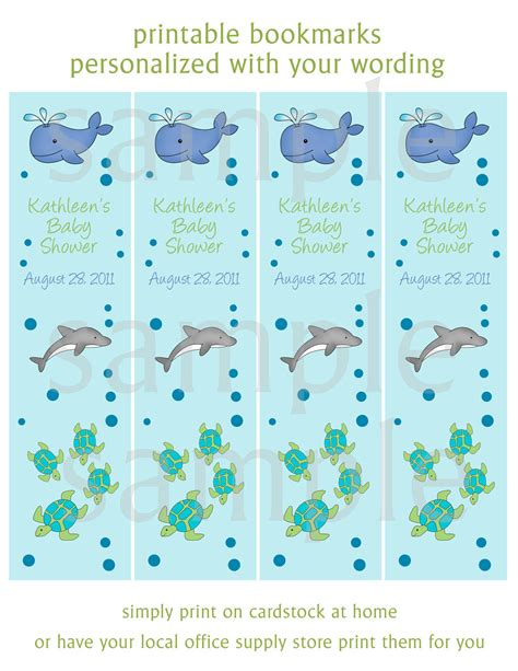 printable welcome bookmarks sea life bookmarks printable digital file by