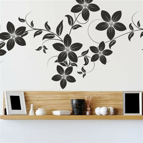 flower design on wall cool wall stickers affix tips and tricks for a creative