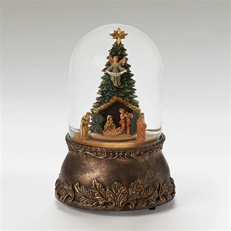 fontanini musical nativity snowglobe the catholic company