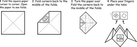 How To Fold A Fortune Teller Out Of Paper - fortune tellers