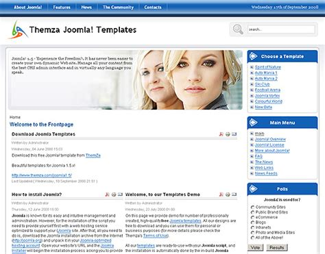 joomla template free 2 5 free joomla 1 5 x templates mini website builder by themza