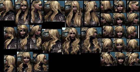 skyrim hairstyles for men skyrim all hair styles images ultimate npc face