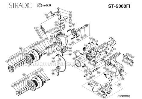 shimano stradic parts diagram shimano st 5000fi parts list and diagram